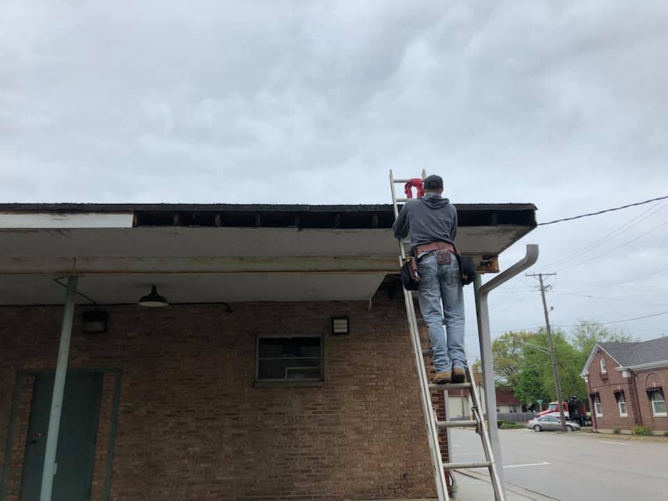 Repairing, restoring, and installing a new gutter system