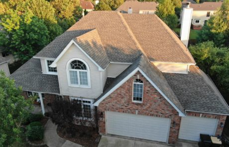 Beautiful residential roofing job completed by Pro Restoration LLC